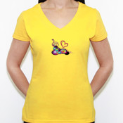 Loving Spring - Camiseta de pico Fruit of the Loom