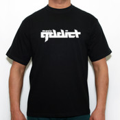 Music addicted logo - Camiseta calidad 180 gr/m2 Russell 180